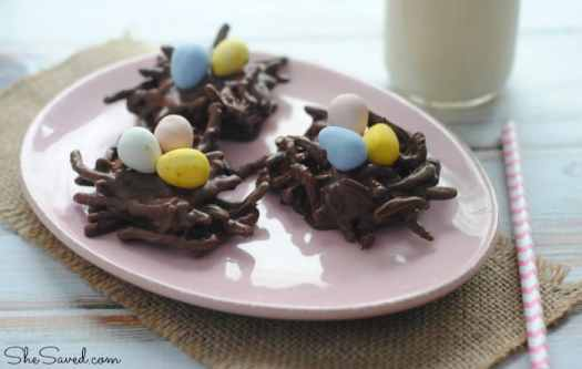 nutella easter bird nest cookies