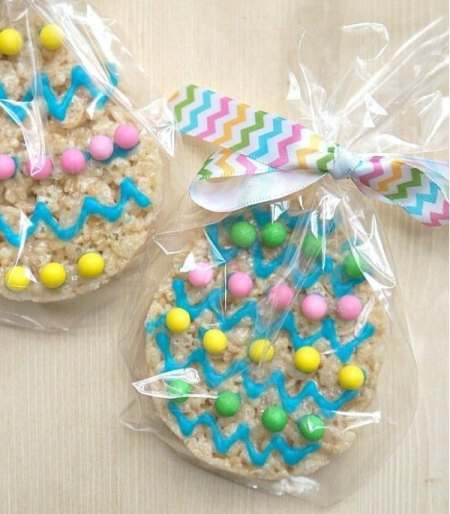 Rice crispies easter treat cookie