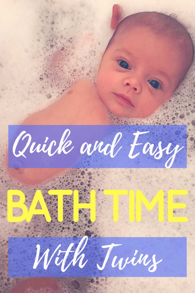 Quick and Easy Bath Time with Twins from a New Twin Mom
