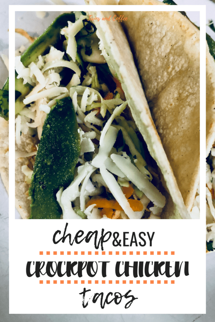 Cheap and easy crockpot chicken tacos perfect for taco night and the whole family