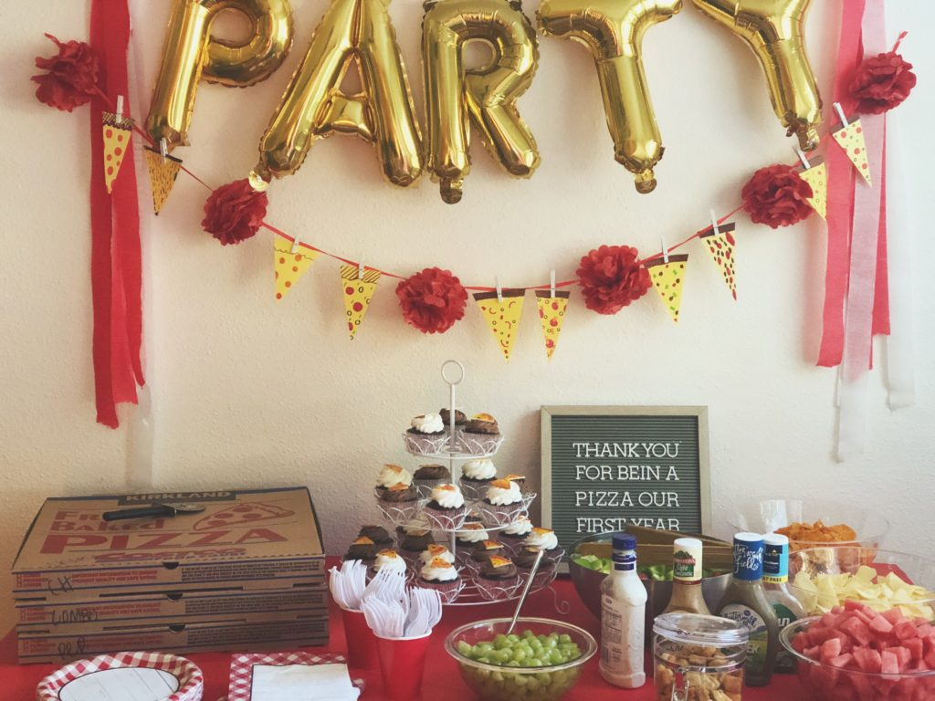 Unique And Different First Birthday Theme Party Idea For Boy Girl Pizza