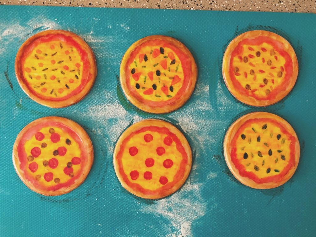 Easy DIY Fondant pizza slices for beginners birthday party pizza party how to birthday cake and smash cake
