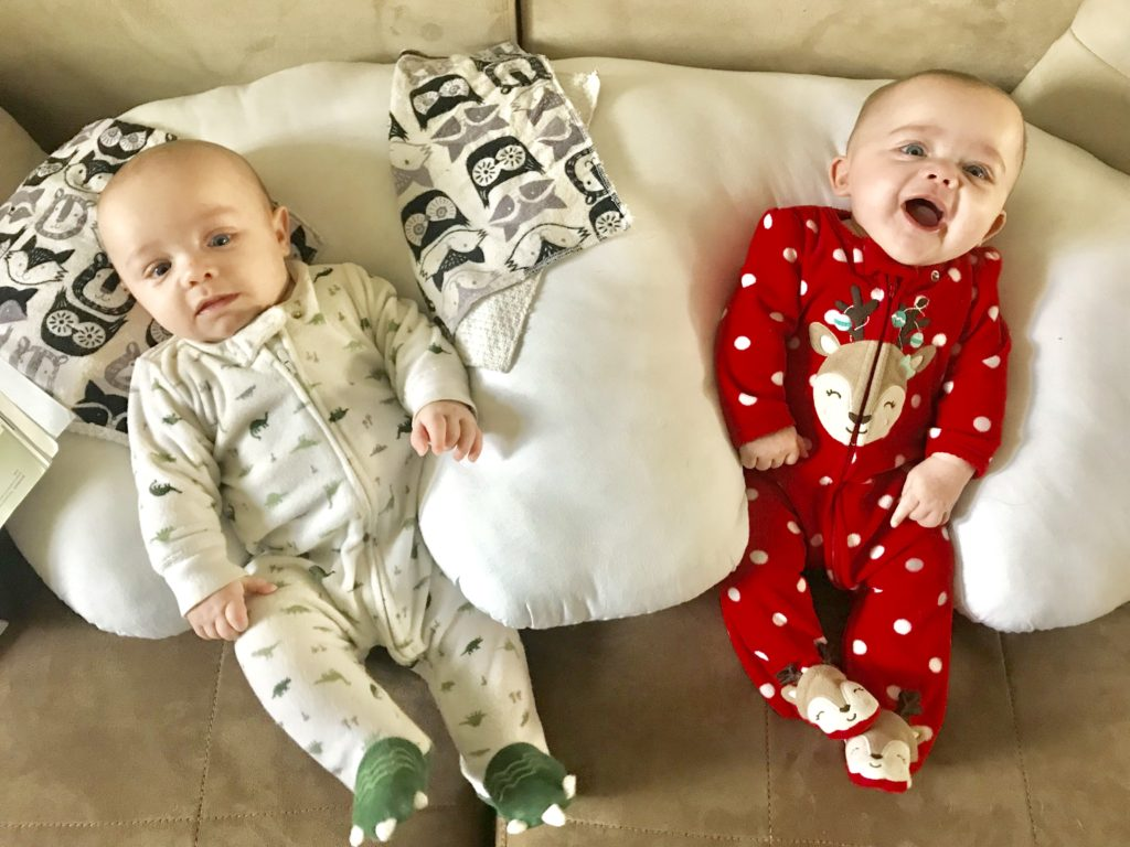 list of tip products that made the first year with twins easier. Ideal list of products every twin parent needs for newborns.