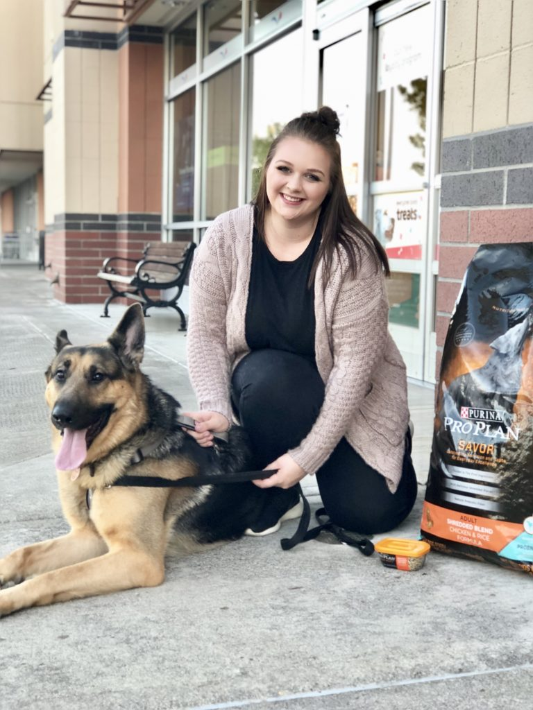 Tips for making time for dog after baby from a mom of twins. Making time for your dog after baby is easy with the gift of help from friend and family, along with Purina Pro Plan Savor dog food which you can grab from your local Petsmart.