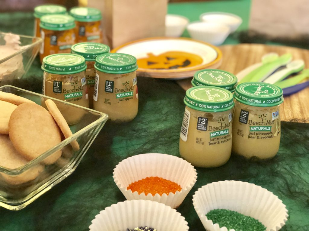 Creative mom date idea of hosting a sugar cookie decorating party with DIY recycled baby food jars as cookie cutters! This post is in collaboration with Beech-Nut brand, however all opinions are my own. #Ad #mommyparties #beechnutpartner #momdate #momdateidea #babyfood #blw #babyledweaning #ideasforbabyfood