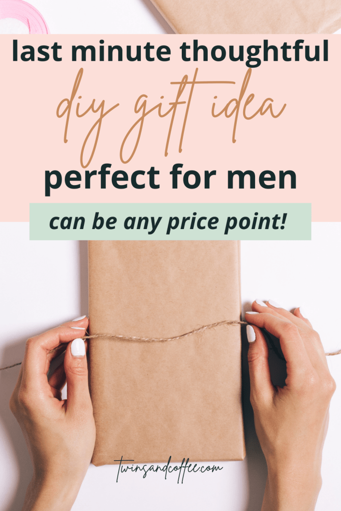 last minute diy inexpensive gift idea for men