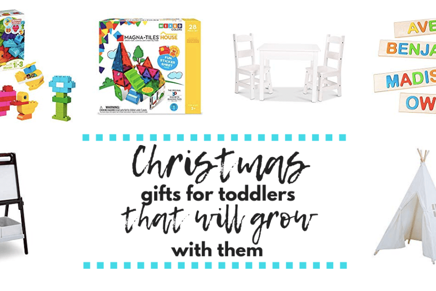Gifts for toddlers that will grow with them and are perfect for sibling gifts or gifts for twins. This gift list is packed with presents that your kids will get use out of.