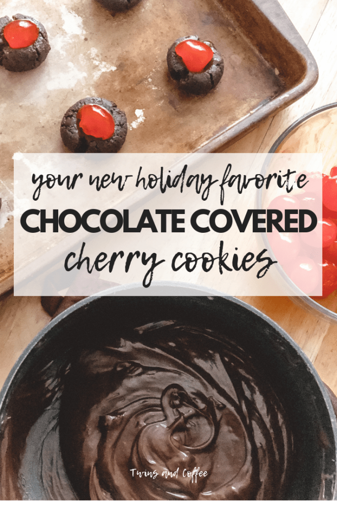 Chocolate covered cherry cookies are going to be your new favorite holiday cookie. The fudgey chocolate cookies are an obsession in my family!