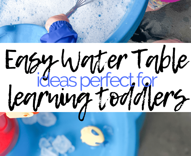 easy water table ideas for toddlers this summer