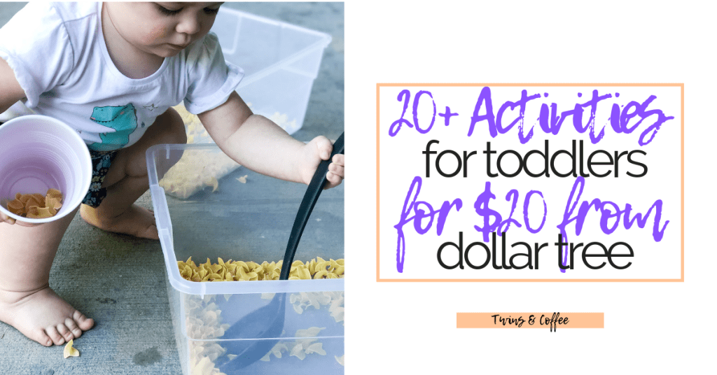 twenty activities for toddlers from the dollar tree