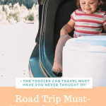 toddler car travel must haves