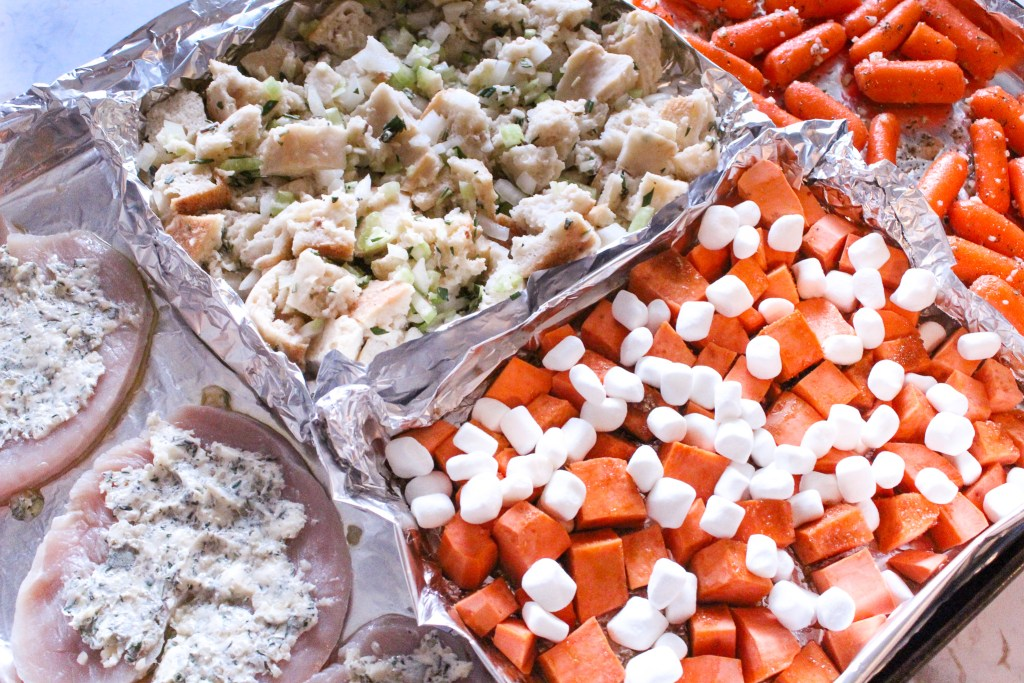 sheet pan thanksgiving dinner recipe idea with fred meyer and QFC