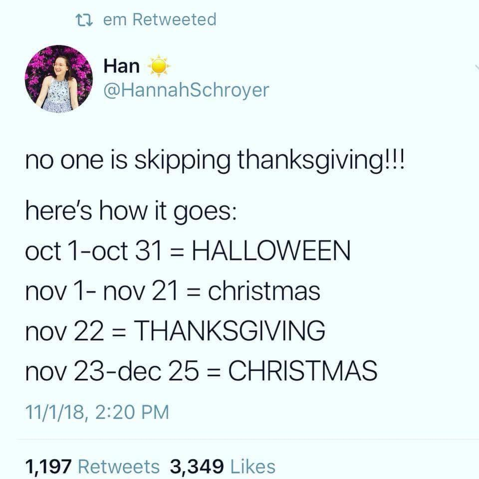 thanksgiving and christmas season