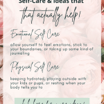types of self care and how to practice them