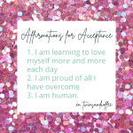 affirmations for self acceptance