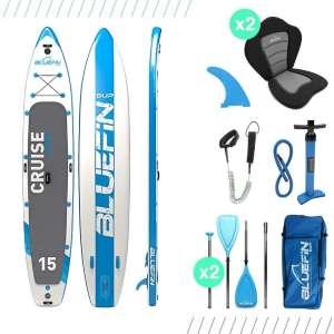 Paquete de Sup Bluefin Cruise | Tabla de Paddle Surf Hinchable | Remo de Fibra de Vidrio | Kit de Conversión a Kayak | Accesorios Completos | 5...