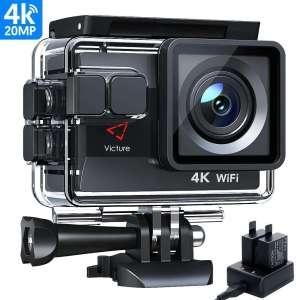 Victure AC800 Cámara Deportiva Wi-Fi 4K Ultra HD 20MP camara acuatica
