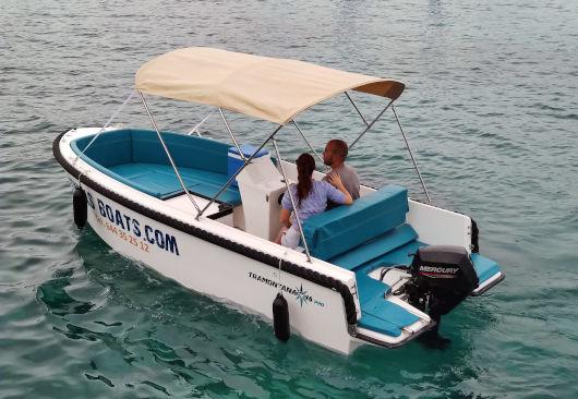 Bonita embarcación sin licencia para alquilar en Ciutadella de Menorca