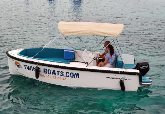 Bonito barco sin licencia para alquilar en Ciutadella de Menorca