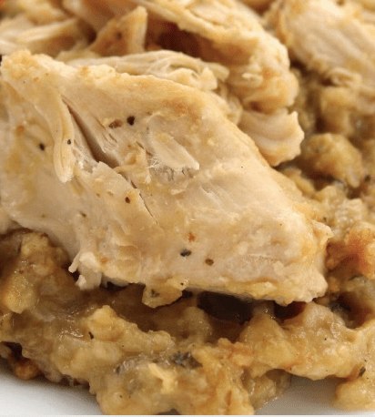 Slow Cooker Chicken Stuffing