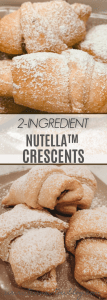 2-ingredient nutella crescents