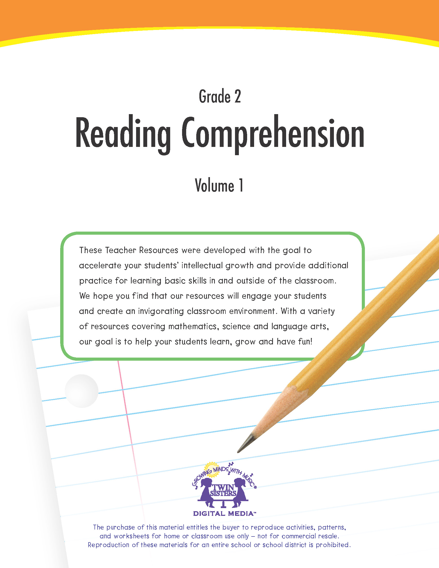 Grade 2 Reading Comprehension Volume 1