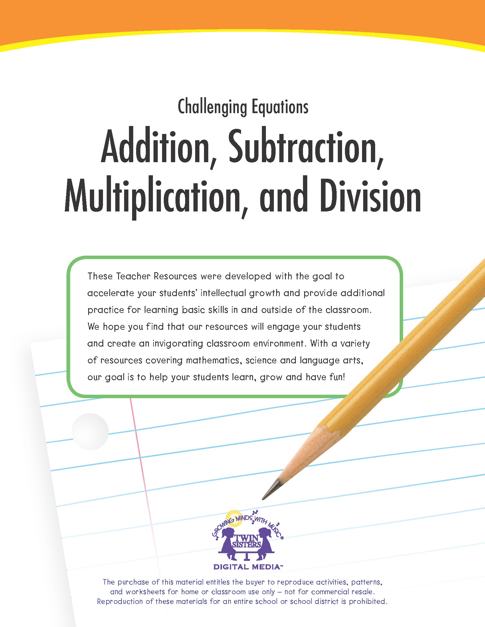 Challenging Equations Addition Subtraction