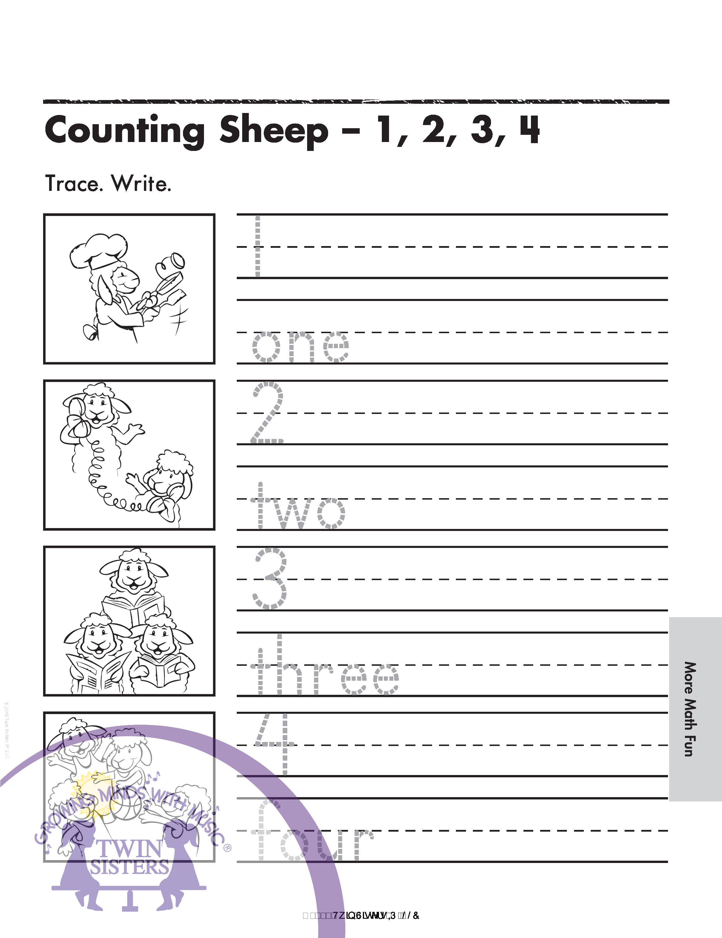 Kindergarten Skill Builder Writing Number Words 1 10