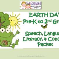 Free Earth Day Pages + An Earth Day Speech, Language & Literacy Packet