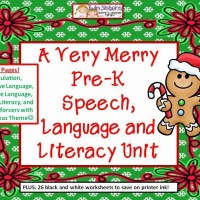 A Very Merry Pre-K Speech, Language and Literacy Unit