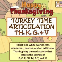 Gobble Gobble NEW! Turkey Time Articulation Packet