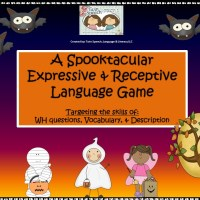 A FREE Halloween- Themed Receptive & Expressive Language Game
