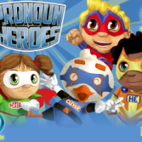 Pronoun Heroes App Review and GIVEAWAY!