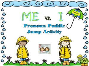 "Get Your Fun Pronoun FREEBIE Today!  ""Me"" vs. ""I"" Pronoun Puddle Jump Activity"