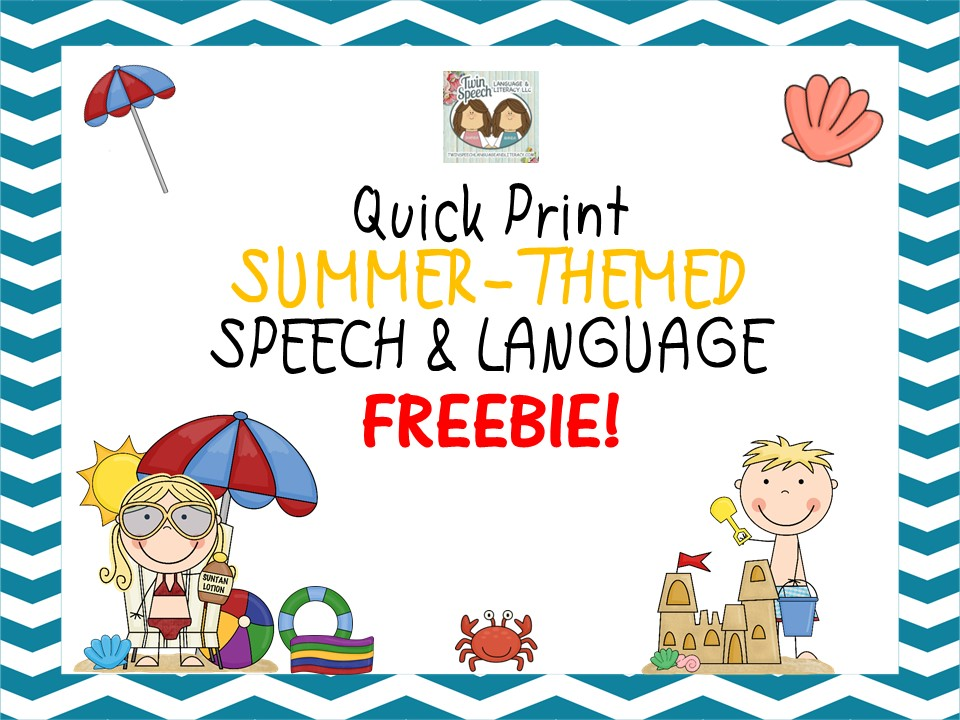 Summer-Themed Opened-Ended Speech & Language FREEBIE!