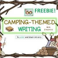 Camping-themed Writing FREEBIE!