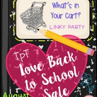 """What's in Your Cart?"" Linky Party for Teachers Pay Teachers Back to School Sale"