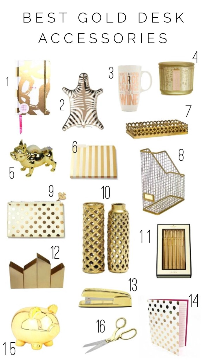 Best Gold Desk Accessories by Twinspiration