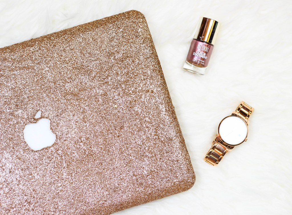 DIY Glitter Computer Case by Twinspiration