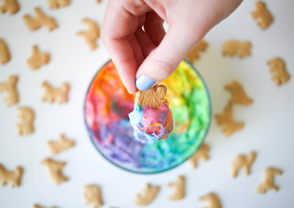 Rainbow Funfetti Dip by Twinspiration