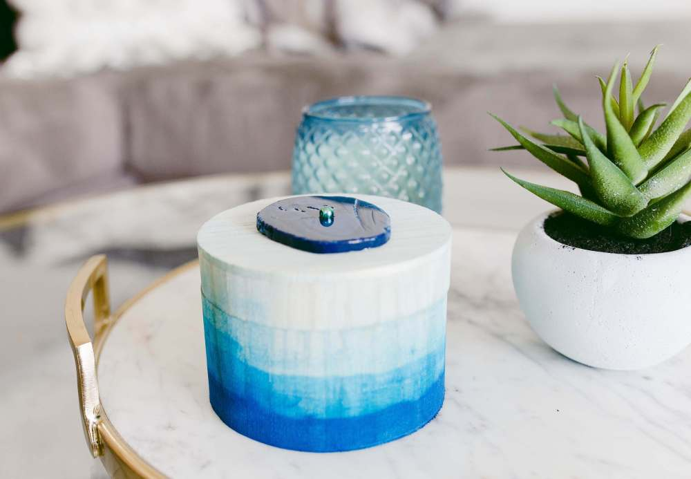 DIY Blue Watercolor Box | Twinspiration