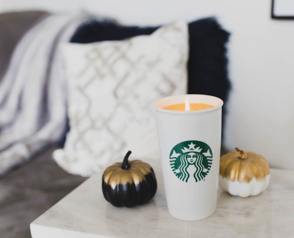 DIY Pumpkin Spice Latte Candle | Twinspiration