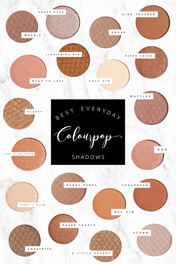 Best Everyday ColourPop Shadows | Twinspiration