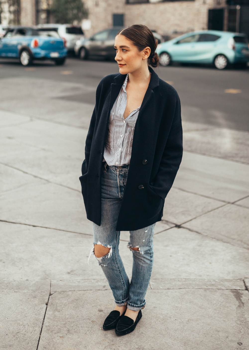 The Perfect Blazer Sweater Jacket | Twinspiration