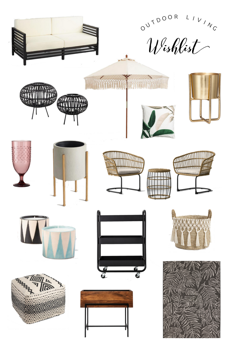 Affordable Outdoor Living Wishlist | Twinspiration
