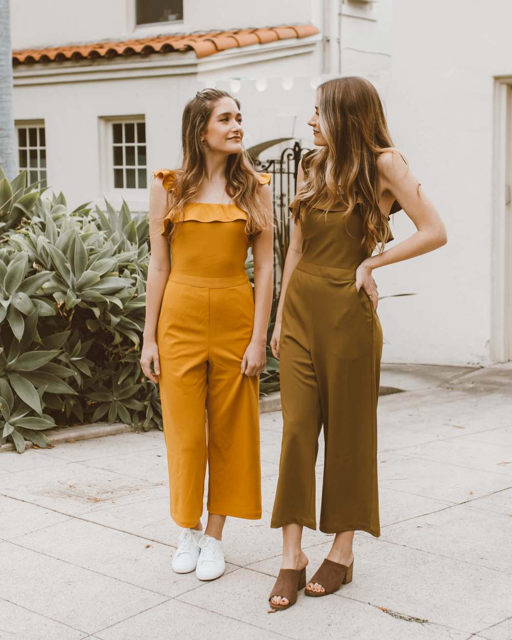 One Piece, Two Ways: Ruffled Jumpsuit | Twinspiration