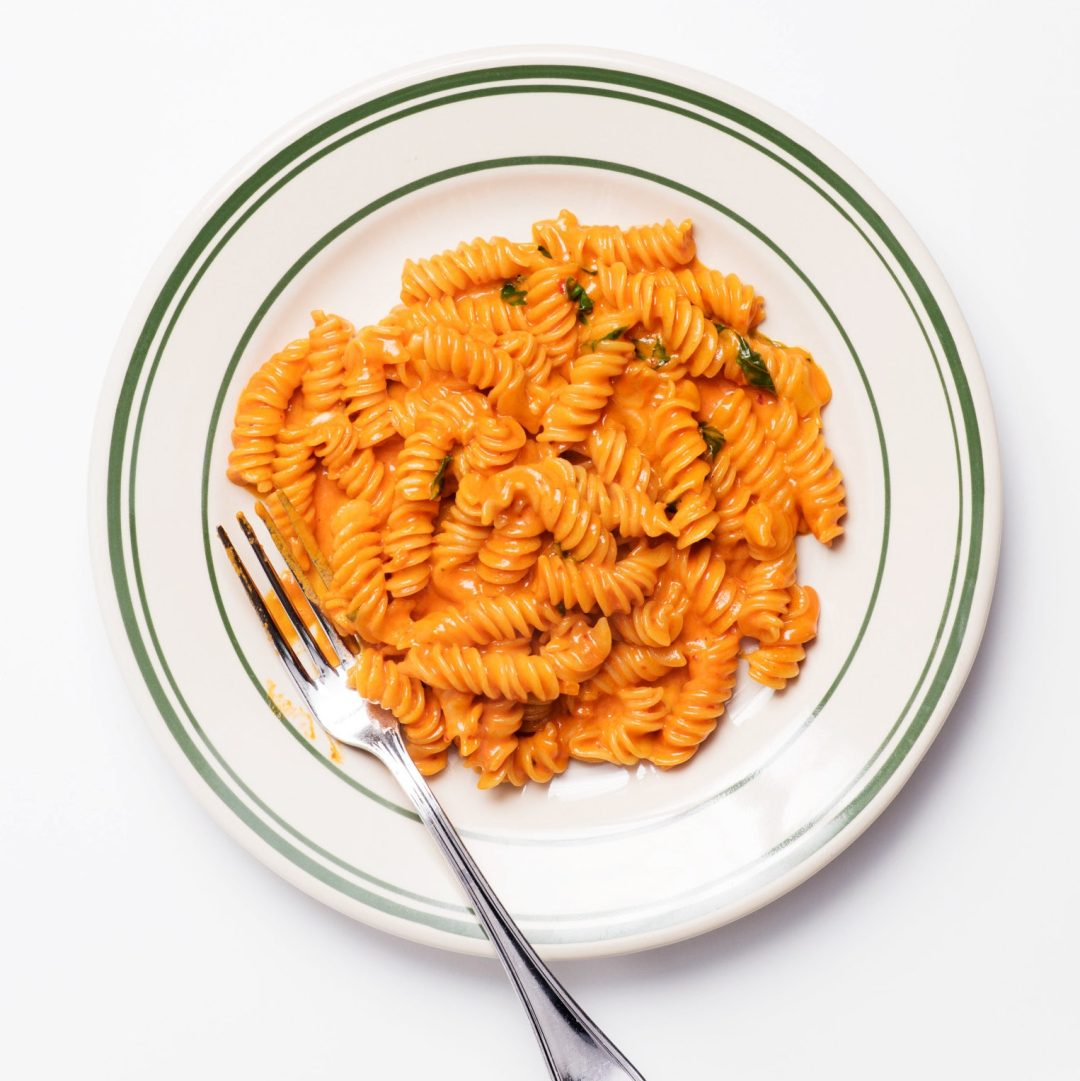 Fusilli Alla Vodka with Basil and Parmesan | Twinspiration