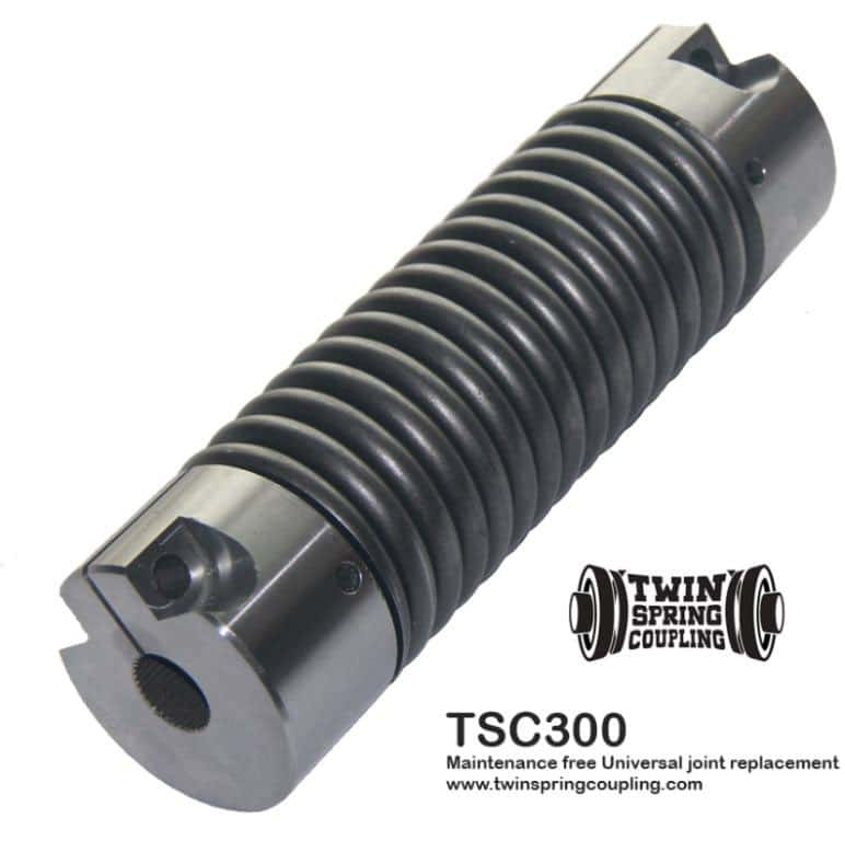 Twin Spring coupling TSC300 flexible coupling replaces universal joints, servo, beam, bellows and elastomeric couplings