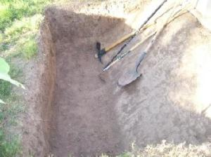 Max depth trench and one sloping side