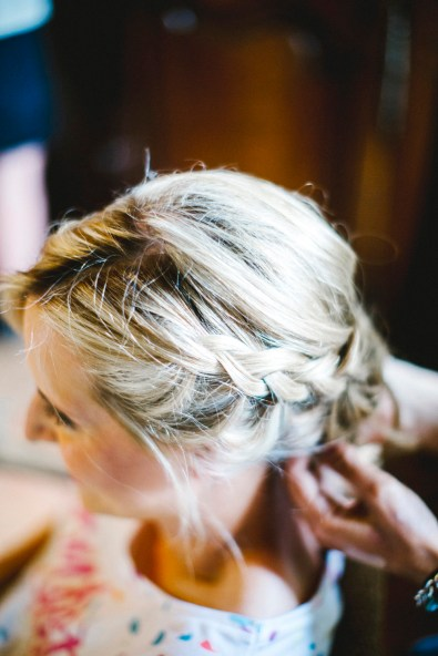 wedding hair plaits